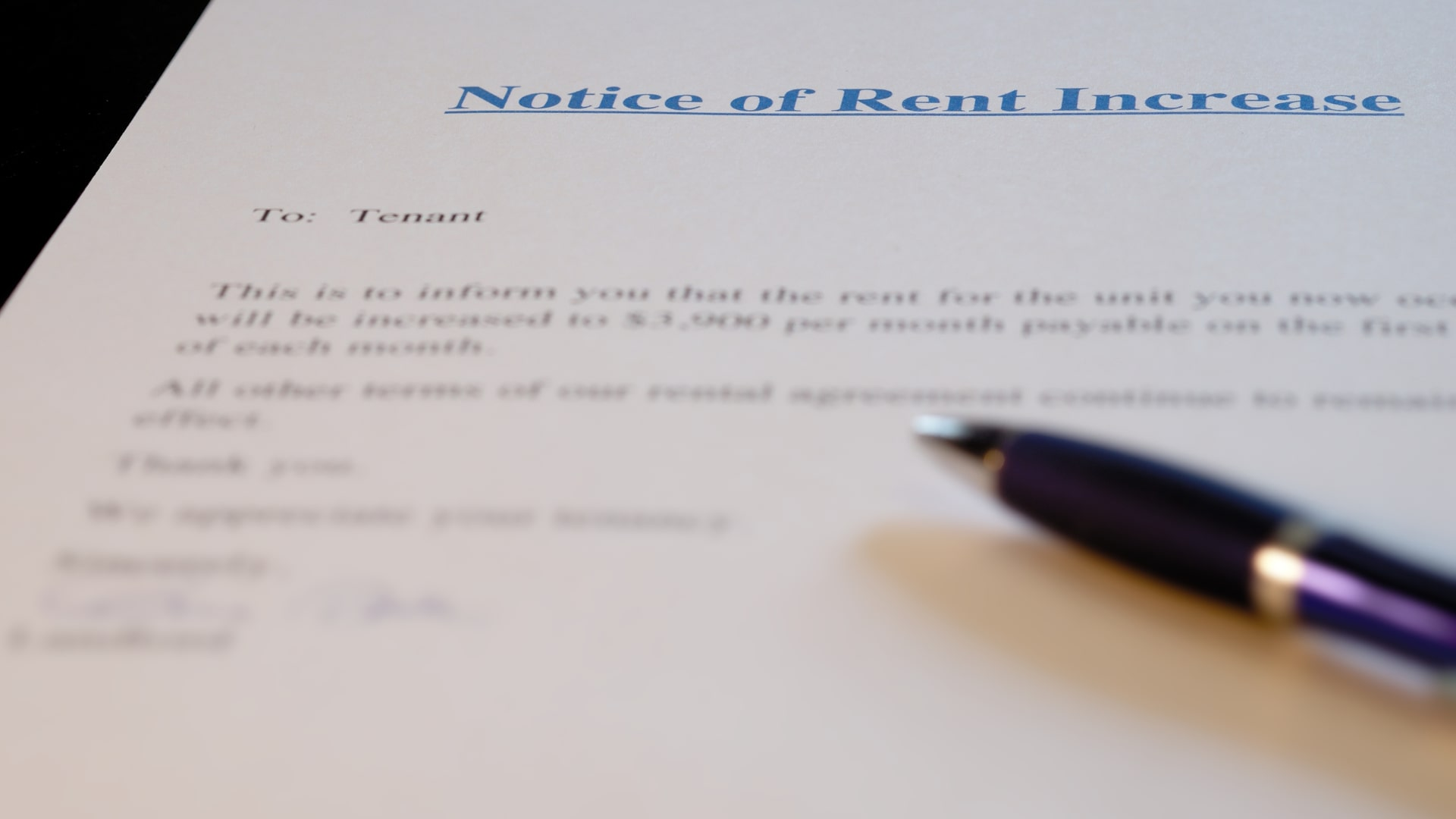 Common Notices for Managing Rental Property